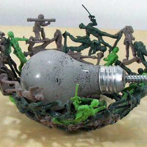 Melted Army Men Bowl