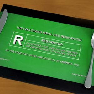 Movie Rating Dinner Placemat
