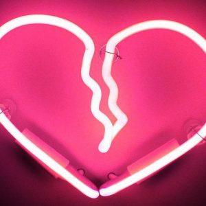 Neon Broken Heart Sign