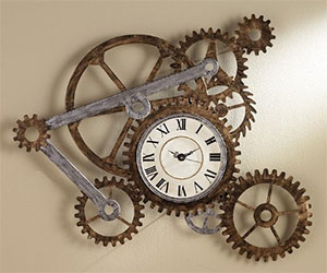 Oversized Gear Clock