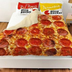 Pepperoni Pizza Bed Cover