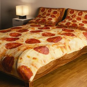Pepperoni Pizza Bed Set