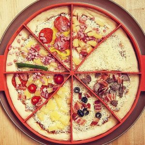 Pizza Slice Toppings Divider