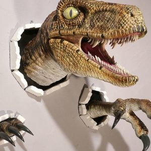 Realistic Wall Bursting Velociraptor