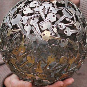 Recycled Keys Art