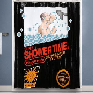 Retro Nintendo Shower Curtain