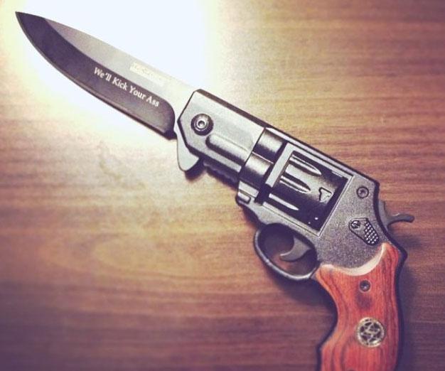 Revolver Gun Knife Interwebs