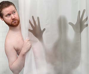 Scary Silhouette Shower Curtain