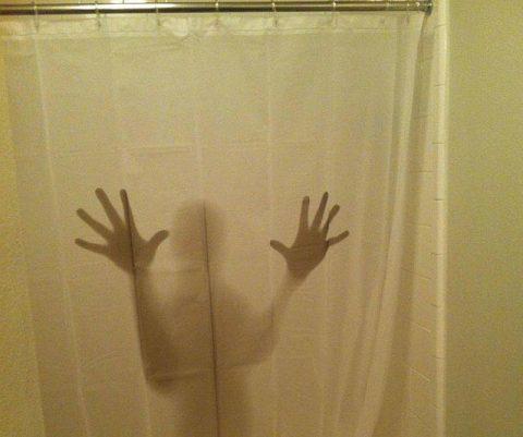 Shadowy Figure Shower Curtain