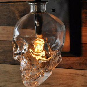 Skull Wall Sconce