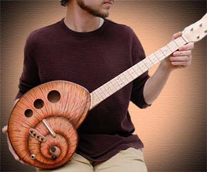 Snail Shaped Ukulele
