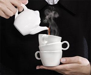 Stacked Mugs Ceramic Mug