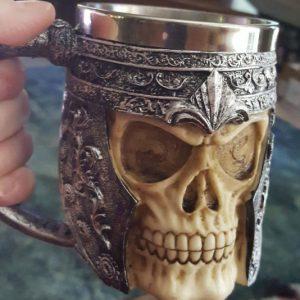Stainless Steel Skull Coffee Mug