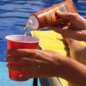 Sunscreen Bottle Drinking Flask