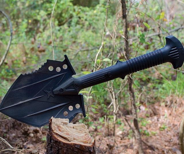 Tactical survival shovel interwebs for Garden pool doomsday preppers