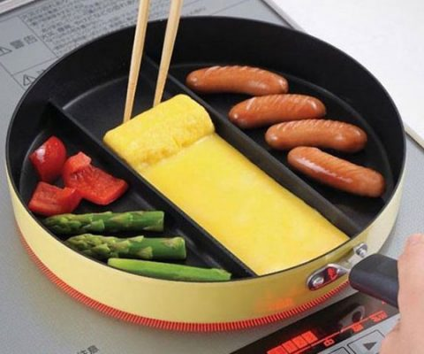 Three Section Frying Pan