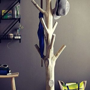 Tree Trunk Coat Rack