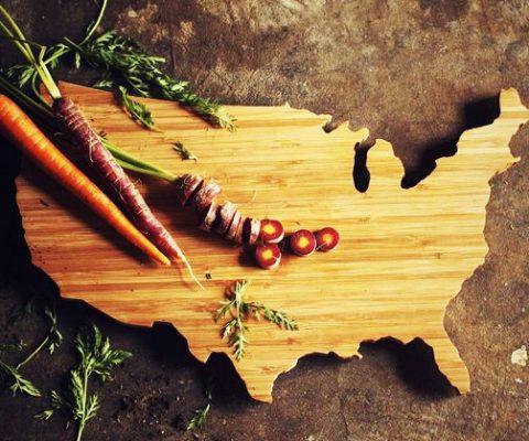 USA Shaped Cutting Board