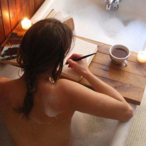 Wooden Bathtub Caddy