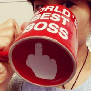 World's Best Boss Middle Finger Mug