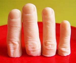 severed fingers soap bars