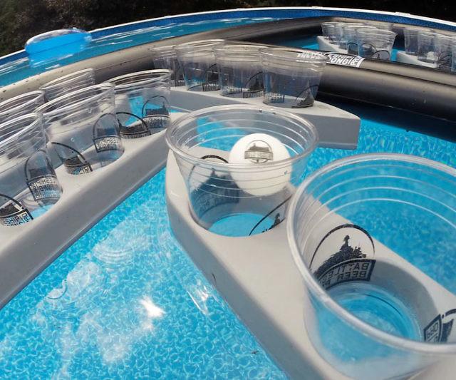 Battleship Floating Beer Pong Interwebs