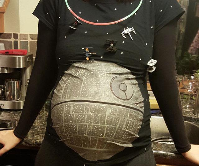 Death Star Maternity Shirt Interwebs