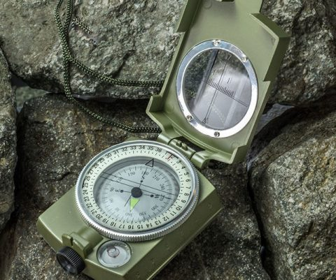 Military Grade Lensatic Sighting Compass