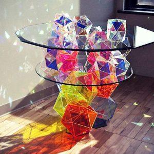 Sparkle Reflective Cocktail Table