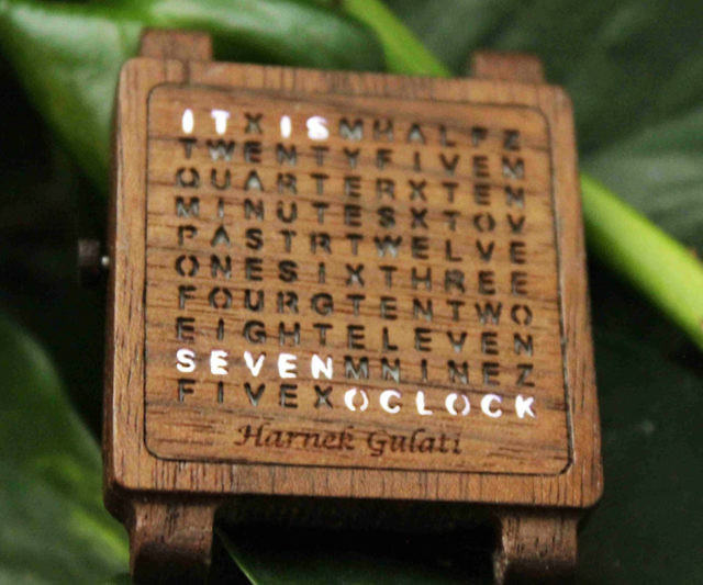 Wooden Word Watch Interwebs