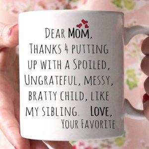 Dear Mom Coffee Mug
