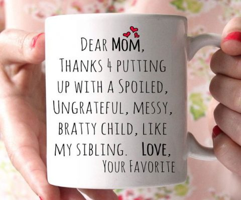 Dear Mom Coffee Mug