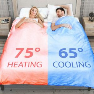 Dual-Zone Climate-Controlled Smart Duvet
