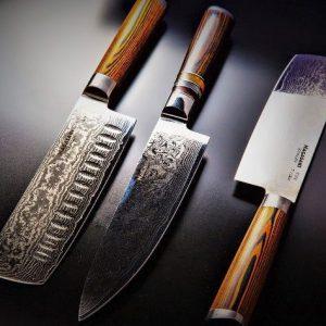 Nagasaki Damascus Steel Knife Collection