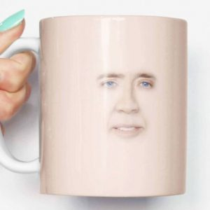 Nicolas Cage Face Coffee Mug
