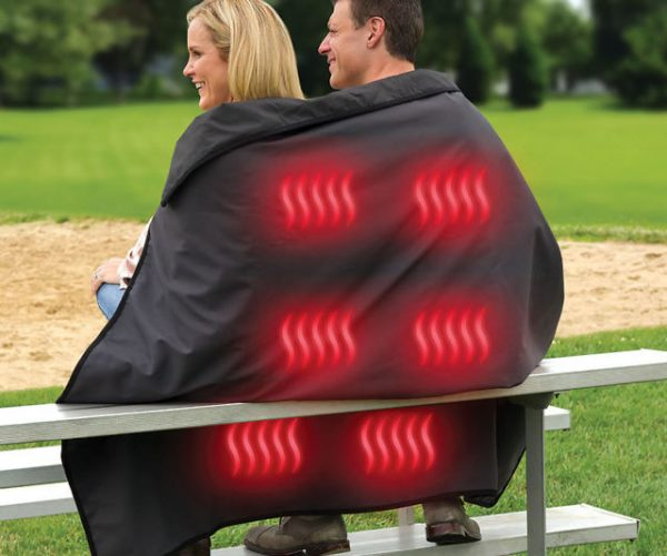 Cordless Heated Stadium Blanket