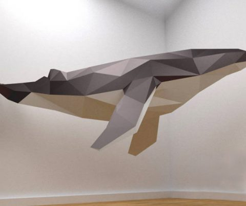 DIY Giant 3D Papercraft Whale