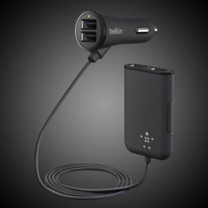 4-USB Front & Back Seat Car Charging Hub