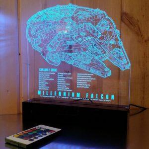 Millennium Falcon Blueprint LED Lamp
