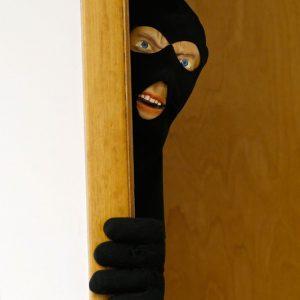 Scary Intruder Prank Door Prop