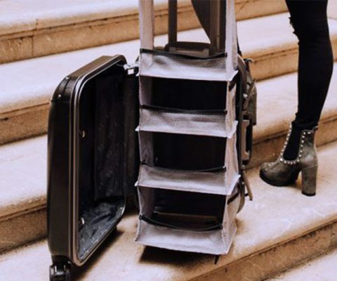 Luggage With Pop-Up Shelves