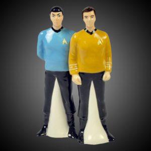 Mr. Spock & Captain Kirk Salt & Pepper Shakers