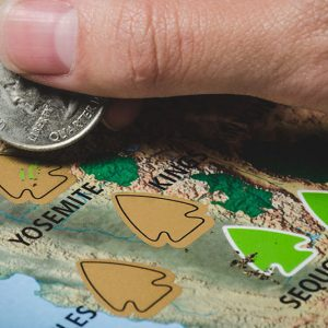 National Parks Scratch Off Travel Map
