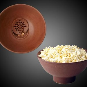 Popcorn Bowl with Kernel Sifter