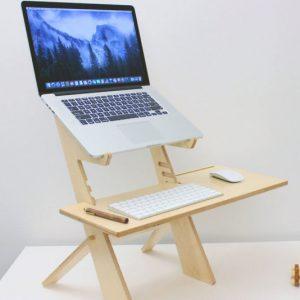 Portable Wooden Standing Laptop Desk