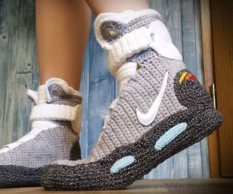 Back To The Future Knitted Slippers