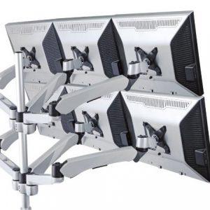 Six Monitor Desk Mount