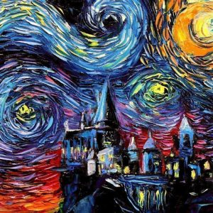 Starry Night Harry Potter Hogwarts