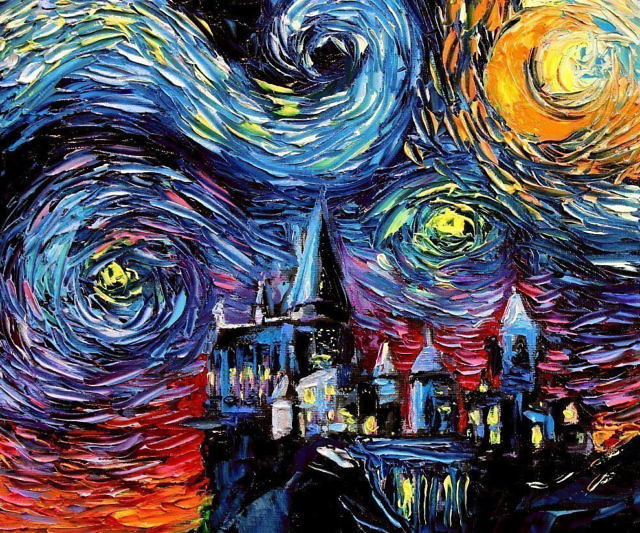 Starry Night Harry Potter Hogwarts