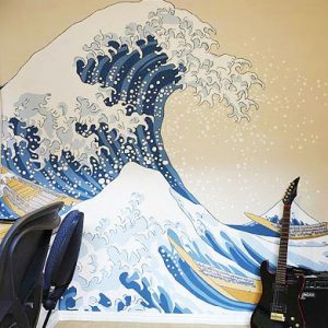 The Great Wave Off Kanagawa Mural